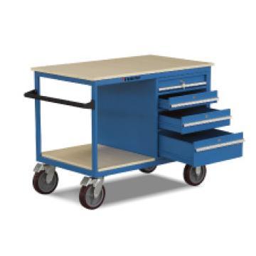 可移动工具车,500Kg    抽屉(2×90,1×106,1×180)   PU轮