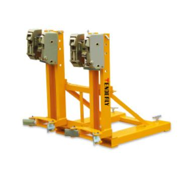 泰得力 720Kg 油桶搬运夹(夹扣式),双桶(叉车专用),高度可调,双鹰嘴型,型号 DG720B