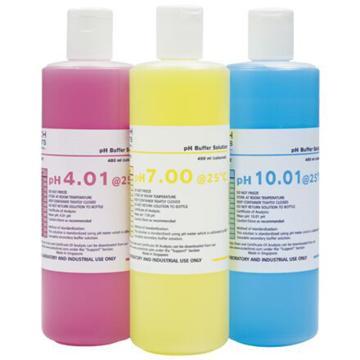 pH缓冲溶液,pH 4.01彩色缓冲溶液(红),1L/瓶