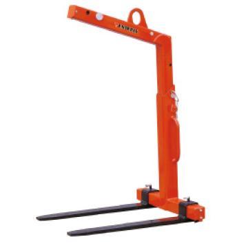 西域推荐 1吨 自动平衡吊叉 可调高度h=1100-1600mm 货叉长度1000mm 货叉可调宽度350-900mm,CY10