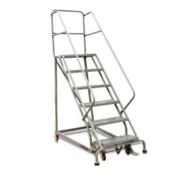 泰得力 160Kg 2层踏板美式B型固定取货梯,最高层离地高度500mm,美式护栏,防滑冲孔踏板,不带轮子及刹车,型号 RL352B