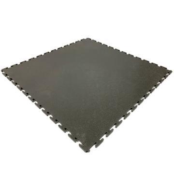爱柯部落耐磨耐压防滑工业地板砖,PVC灰色树皮纹500*500*6.5mm,单位:片