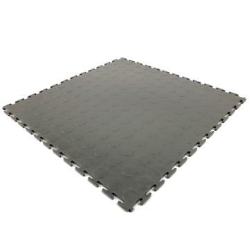 耐磨耐压防滑工业地板砖,PVC   灰色圆点500*500*6.5mm