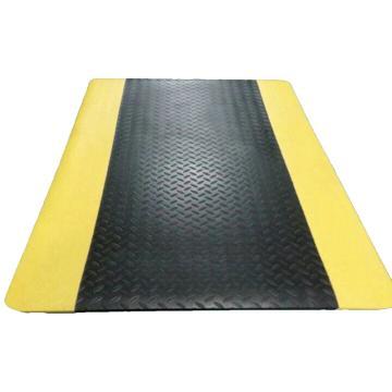 经济型抗疲劳地垫,黄黑60cm*90cm*12mm