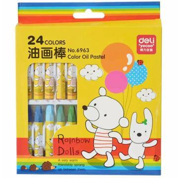得力 油画棒(24色),6963 单位:盒
