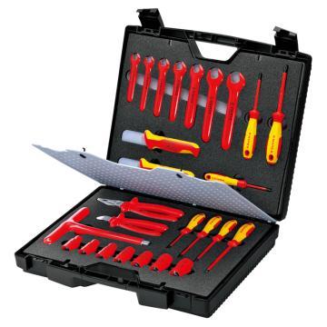 凯尼派克 Knipex 绝缘工具套装,26件套, 98 99 12