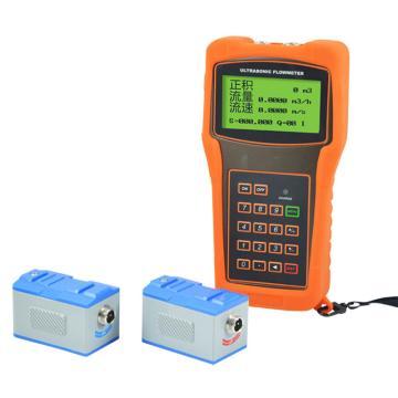 美控 手持式超声波流量计MIK-2000H ,包含:主机,探头一对,耦合剂一只,信号线5米*2,仪表箱一只
