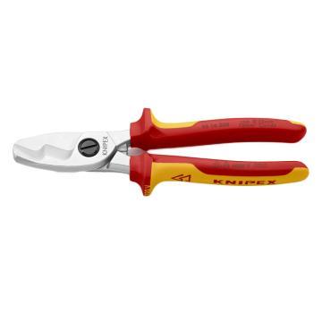 凯尼派克 Knipex  绝缘电工电缆剪(镀铬头,双色双重材料手柄,1000V)
