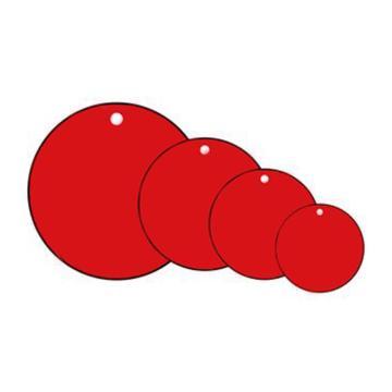 空白塑料吊牌-圆形,Φ31.8mm,红色,100个/包,14786