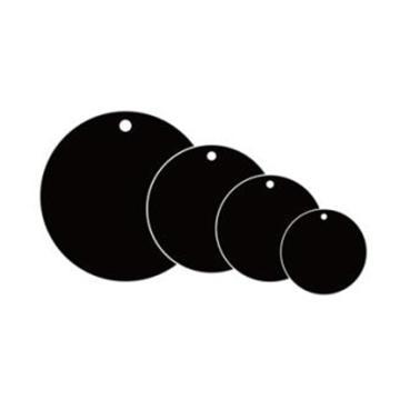 空白塑料吊牌-圆形,Φ25.4mm,黑色,100个/包,14793
