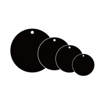 空白塑料吊牌-圆形,Φ31.8mm,黑色,100个/包,14794