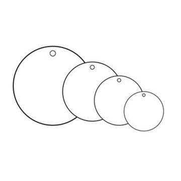 空白塑料吊牌-圆形,Φ25.4mm,白色,100个/包,14797