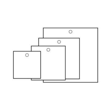 空白塑料吊牌-正方形,50.8×50.8mm,白色,100个/包,14816