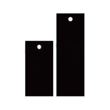 空白塑料吊牌-长方形,25.4×76.2mm,黑色,100个/包,14838