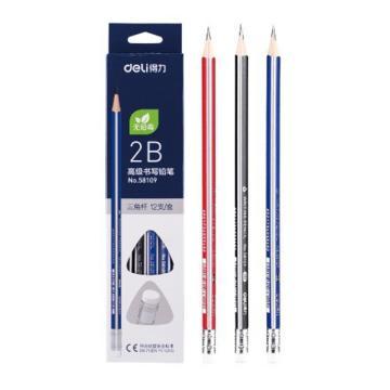 得力(deli)高级书写2B铅笔学生铅笔,12支/盒 58109 单位:盒