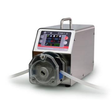 分配智能型蠕动泵,BT100F-1泵头DG6-12(6滚轮),单通道流量(毫升/分钟)0.00016~49,通道数量12