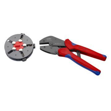 凯尼派克 Knipex 快速切换压线钳套装,配3个压模,压接0.5-6.0mm²,97 33 01