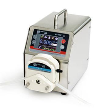 分配智能型蠕动泵,BT100F(不锈钢304机箱)泵头DG6-1(6滚轮),单通道流量(毫升/分钟)0.00016~49,通道数量1