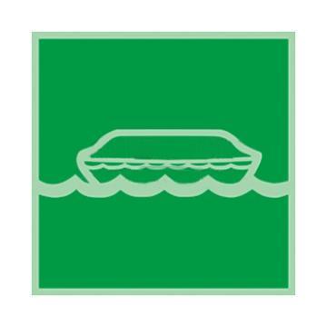 自发光板材标识救生艇,150*150mm