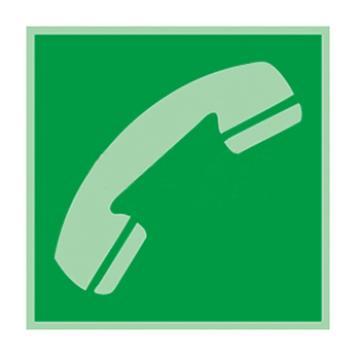 自发光不干胶标识紧急电话站,150*150mm