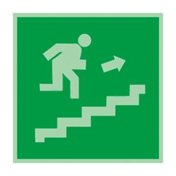 自发光板材标识紧急楼梯,上,150*150mm