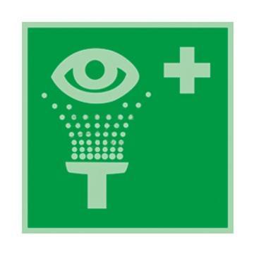 自发光不干胶标识洗眼器,150*150mm