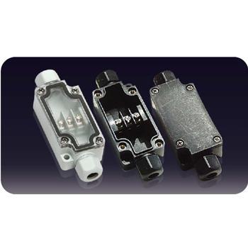 誉霖 灯具用防水接线盒 连体端子接线盒 YL-3P-L 一进一出 IP66 含M12格兰头