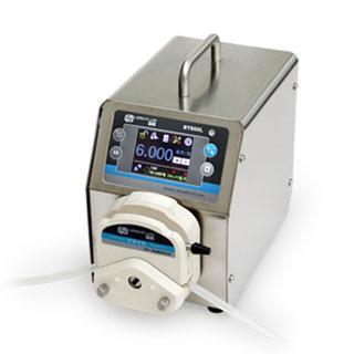 流量智能型蠕动泵,BT600L(不锈钢304机箱)泵头YZ15,单通道流量(毫升/分钟)0.006~2300,通道数量1