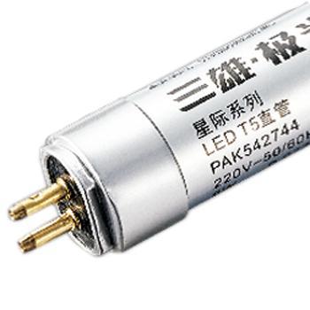 三雄极光 LED T5灯管 星际系列 PAK542745 双端进电 14W AC220V 白光 6500K 玻璃 1.2米