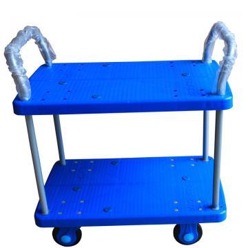 静音 全静音双层双扶手车板式手推车,轮子类型:静音轮,承重(kg):300KG