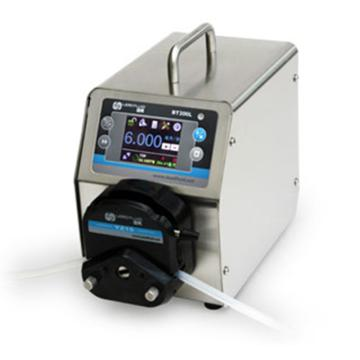 流量智能型蠕动泵,BT300L(不锈钢304机箱)泵头2×YZ15,单通道流量(毫升/分钟)0.006~1340,通道数量2