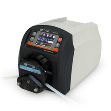 流量智能型蠕动泵,BT101L(流线型塑料机箱)泵头DG6-1(6滚轮),单通道流量(毫升/分钟)0.00016~49,通道数量1