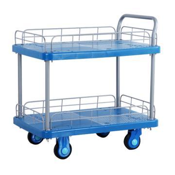 全静音双层单扶手带护栏手推车,轮子类型:静音轮,承重(kg):300KG