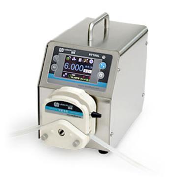 流量智能型蠕动泵,BT100L(不锈钢304机箱)泵头DG6-1(6滚轮),单通道流量(毫升/分钟)0.00016~49,通道数量1