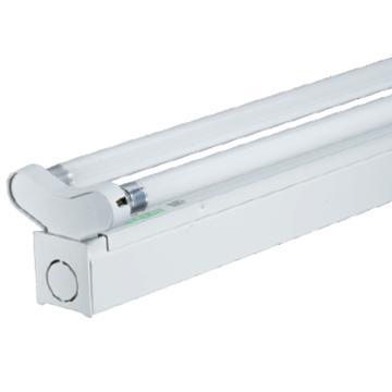 三雄极光 LED T5支架 亮雅系列 PAK-A02-228-A-K 双灯管,平盖不带反射罩 长度1.2米 空包不含灯管(适配1.2米T5 LED灯管双端进电2pcs)