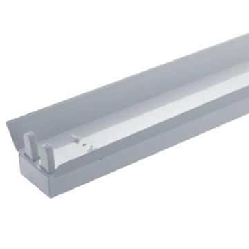 三雄极光 LED T8支架 亮盈系列 双灯管 带反射罩 长度1.2米 空包不含灯管(适配1.2米LED T8灯管双端进电2pcs),单位:个