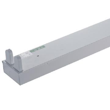 三雄极光 LED T8支架 亮盈系列 双灯管 平盖不带反射罩 长度1.2米 空包不含灯管(适配1.2米LED T8灯管双端进电2pcs)