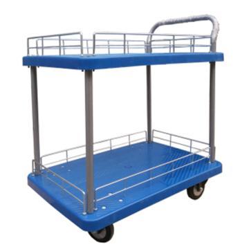 静音 微静音双层单扶手带护栏手推车,轮子类型:铁支架轮,承重(kg):300KG