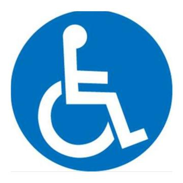 安赛瑞 地贴警示标识 残疾人专用,直径40cm