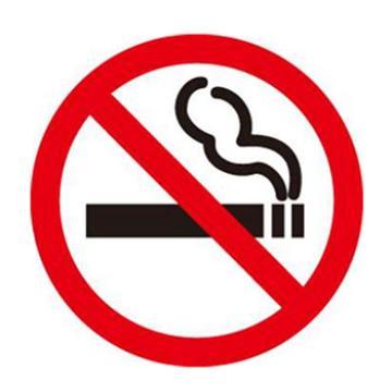 安赛瑞 地贴警示标识 禁止吸烟,直径40cm