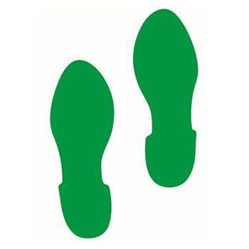 安賽瑞 5S管理地貼-腳印,綠色,280×100mm,15816,1對/包