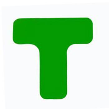 重载型5S管理地贴(T型)-高强度PVC材料,自带背胶,厚2mm,绿色,50×150×150mm,10个/包,15824