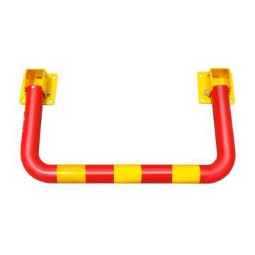 防撞地锁,规格:上置锁芯,红杠黄膜80cm