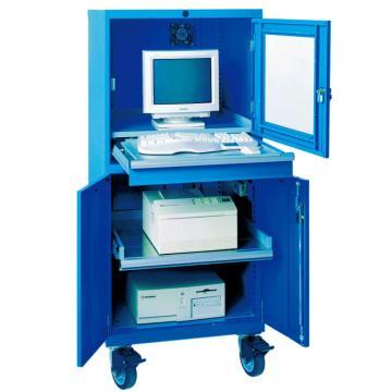 工业电脑柜, 800W*650D*1750H 1层抽拉层板 聚氨酯脚轮