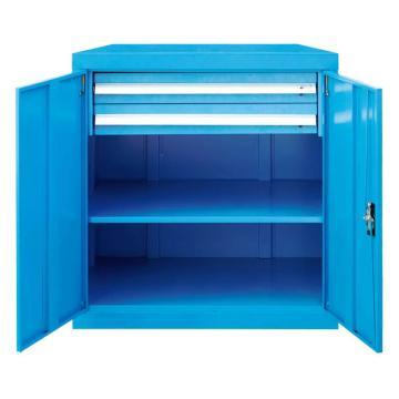 带门工具柜,, 820W*600D*1000H 1层层板2个抽屉