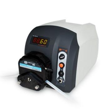 基本调速型蠕动泵,BT301S(流线型塑料机箱)泵头YZ15,单通道流量(毫升/分钟)0.006~1340,通道数量1