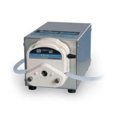 基本调速型蠕动泵,BT102S(不锈钢304机箱)泵头DG6-1(6滚轮),单通道流量(毫升/分钟)0.00016~49,通道数量1