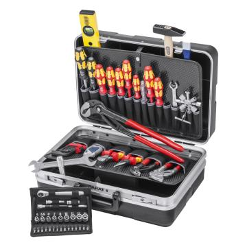 凯尼派克 Knipex 管道维护工具箱,52件组套,00 21 21 HK S