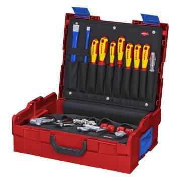 凯尼派克 KnipexL-Boxx® 水管工工具箱,52件套,00 21 19 LB S