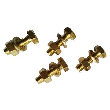 62黄铜全牙外六角组合螺丝(螺栓带平垫螺母),M6-1.0X10,100个/包